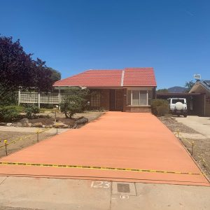 coloured concrete Palerang
